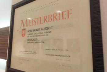 Meisterbrief von Horst Albrecht
