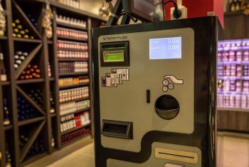 Elektronisches Bezahlsystem in der Metzgerei Albrecht
